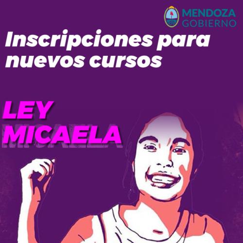 Ley Micaela- Inscripciones para nuevos cursos  (Docentes)